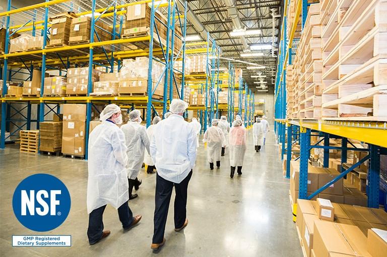 Cumplimiento con la Certificación de Buenas Prácticas de Manufactura de la NSF