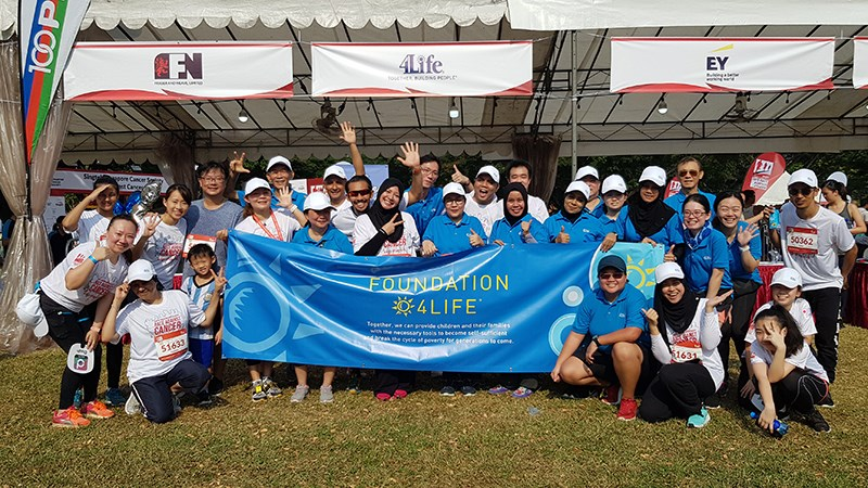 Foundation 4Life<sup>&reg;</sup> and 4Life Singapore Race Against Cancer