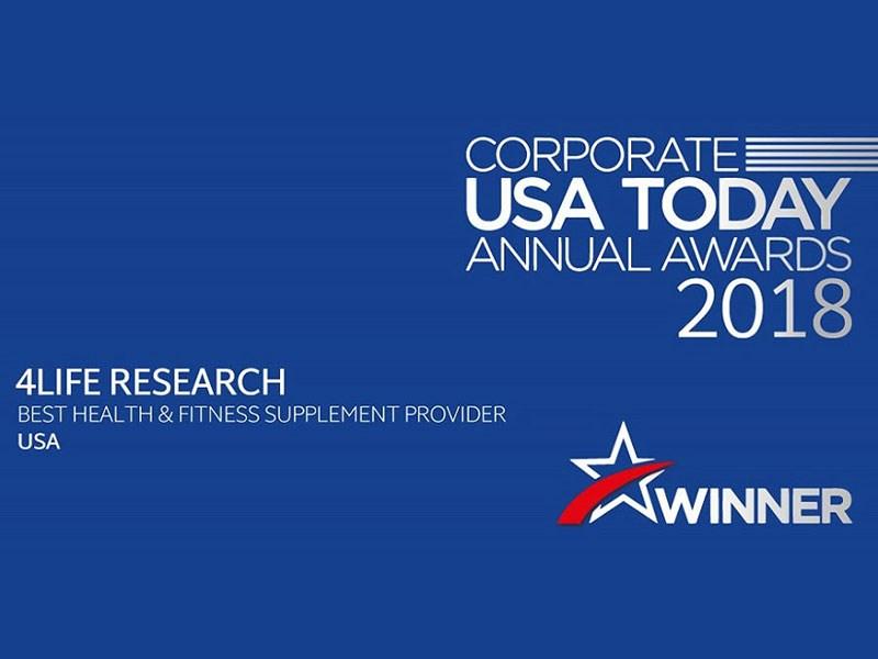 <em>Corporate USA Today</em> įvardijo 4Life geriausiu papildų tiekėju
