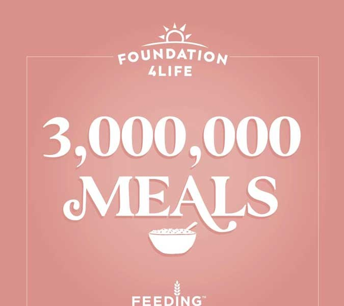 4Life匯聚愛心,捐贈300萬份餐點予「賑濟美國」