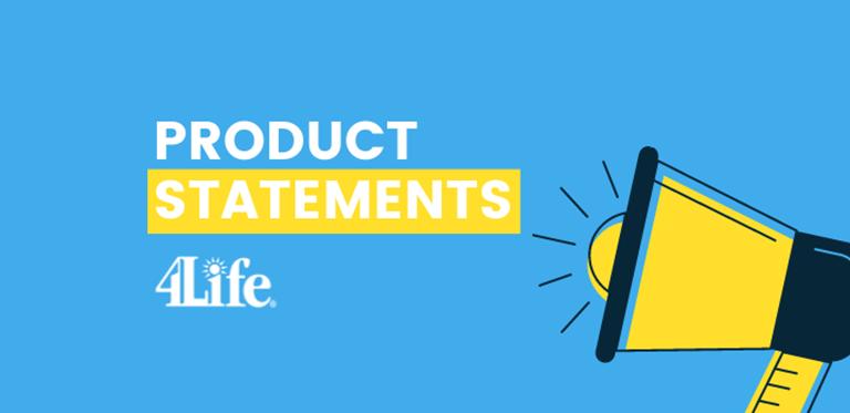 Declaraciones de producto