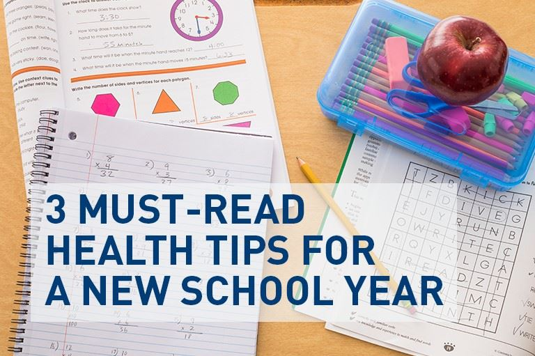 3 Must-Read Health Tips for a New School Year
