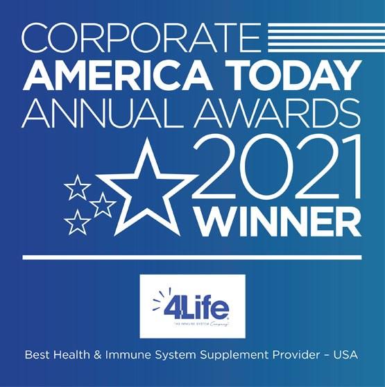 4Life Receives <em>Corporate America Today</em> Award