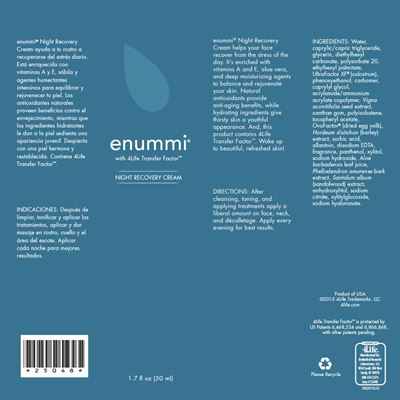 enummi-Night-Recovery-Cream-ingredients