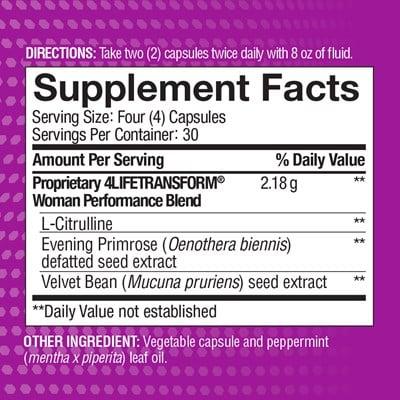 4Life-Transform-Woman-ingredients