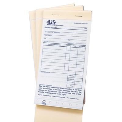 4Life Sales Receipts