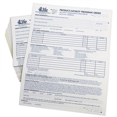 Product Order Forms