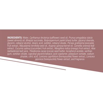 Body Butter facts from label