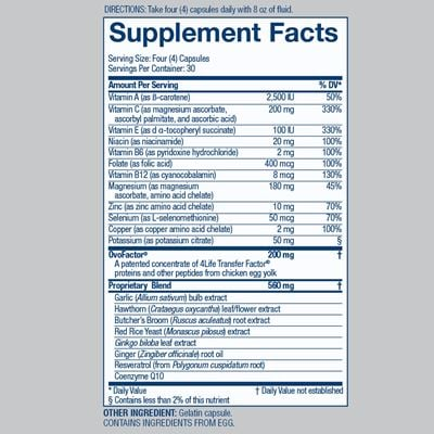 Cardio Nutrition Facts