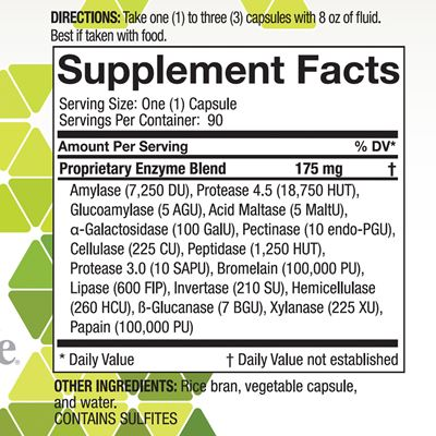 Digestive Enzyme Nutrition Facts