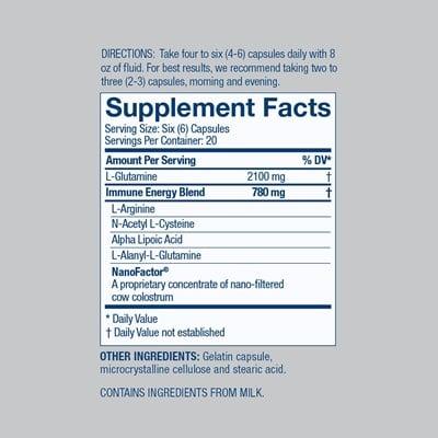 Glutamine Prime Nutrition Facts