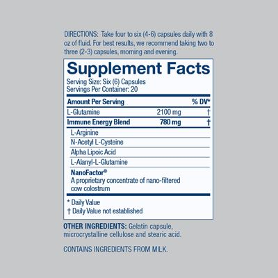 Glutamine Prime Nutrition Facts