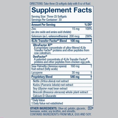 MalePro Nutrition Facts