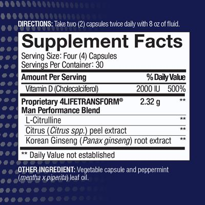 Man Nutrition Facts