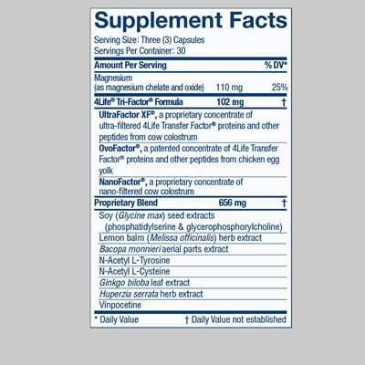 Recall Nutrition Facts