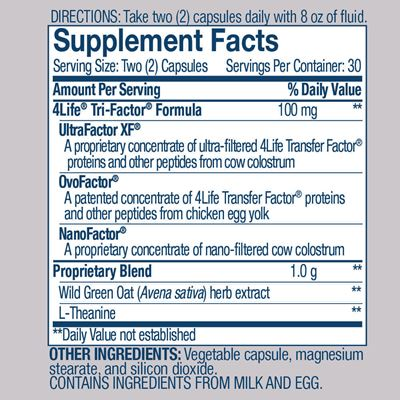 Reflexion Nutrition Facts
