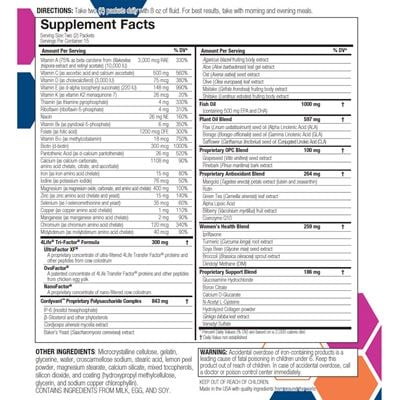 RiteStart Women Nutrition Facts