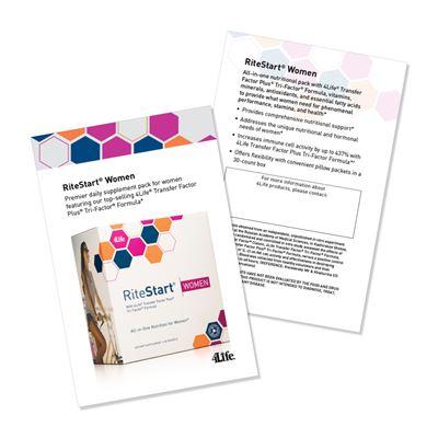 RiteStart Women Marketing Cards