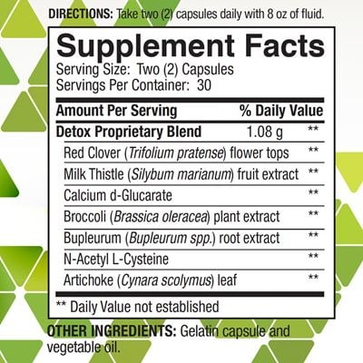 Super Detox Nutrition Facts