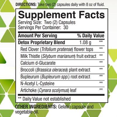 Super Detox Nutrition Facts
