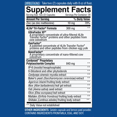 TF Plus Nutrition Facts