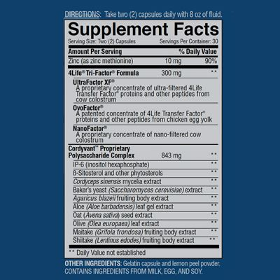 4life transfer factor plus-Facts