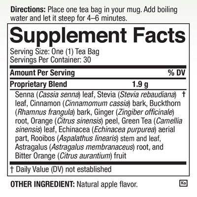 Tea4Life Nutrition Facts
