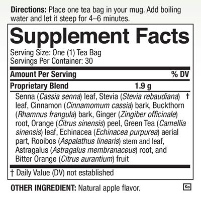 Tea4Life Nutrition Facts