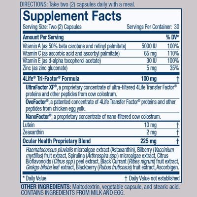 Vista Nutrition Facts