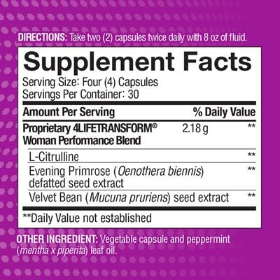 Woman Nutrition Facts