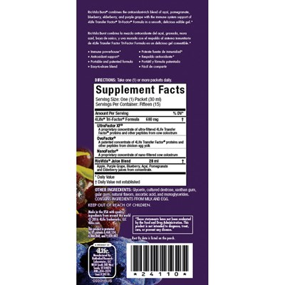 4Life-Transfer-Factor-RioVida-Burst nutritional facts