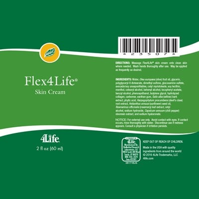 Flex4Life-cream-ingredients