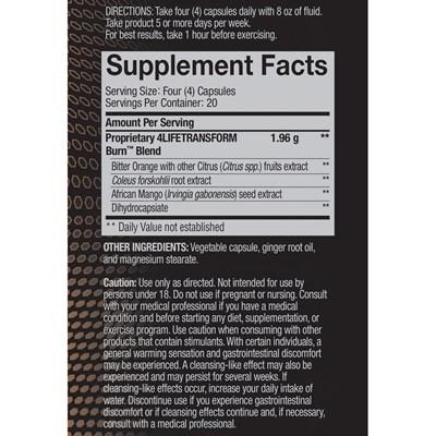 4Life-Transform-Burn-ingredients