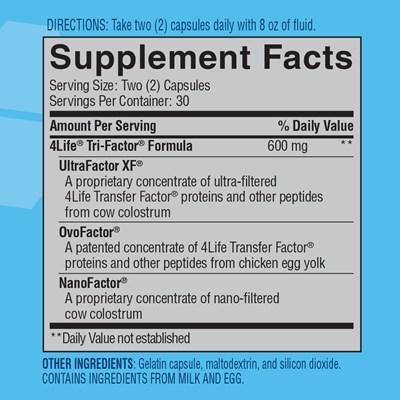 4Life-Transfer-Factor-Tri-Factor-Formula-ingredients
