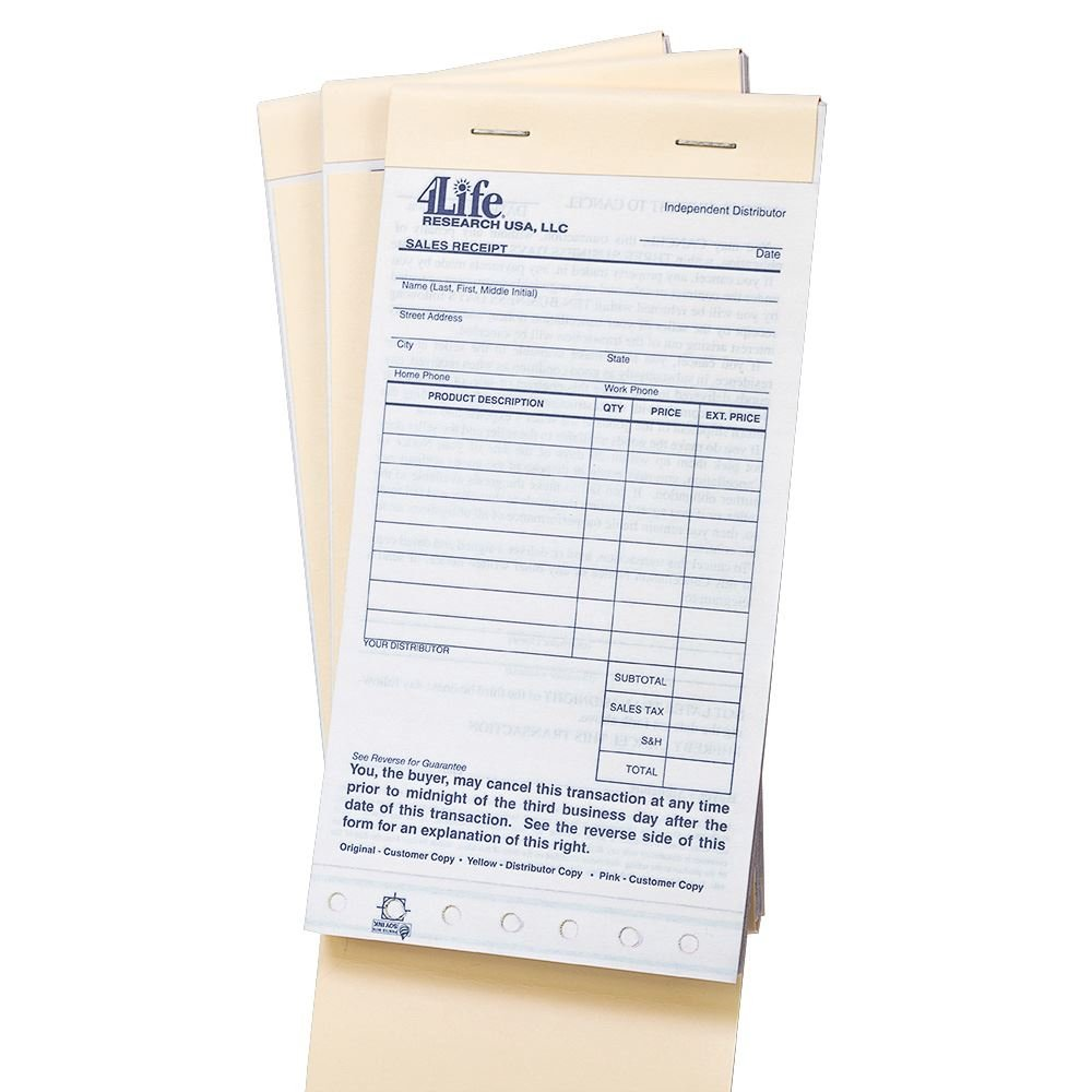 4life sales receipts 4life 中文
