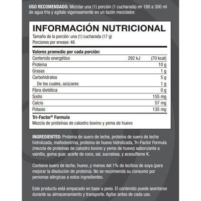 Bolivia pro tf nutritional facts