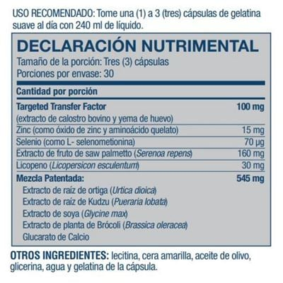 malepro nutritional facts