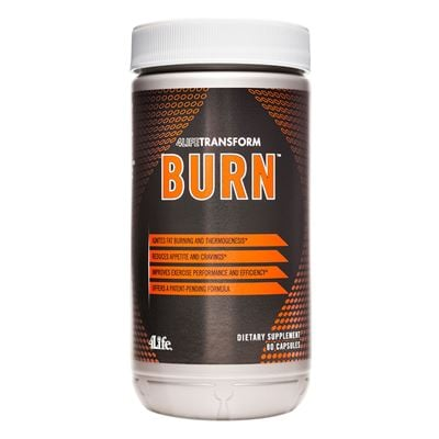4Life Transform Burn with white lid