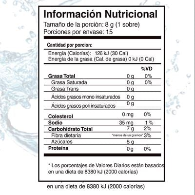 Riovida stix nutritional facts