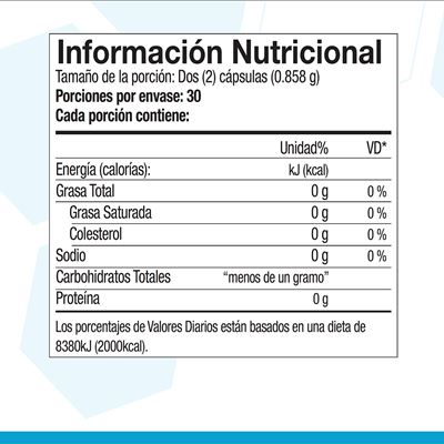Tri factor nutritional facts