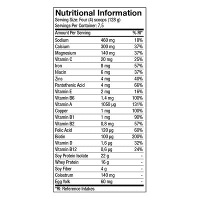 nutrastart-chocolate-nutritional-information