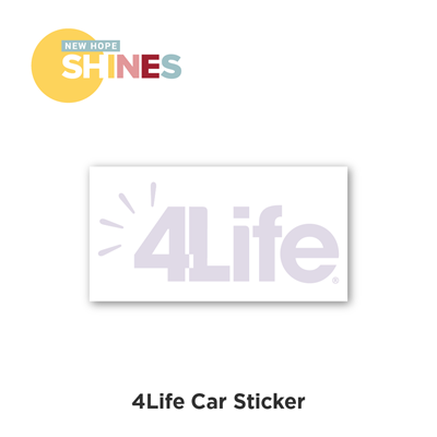 4Life Car Sticker