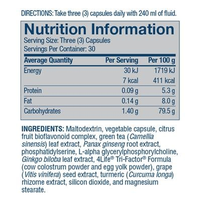 Recall nutritional facts