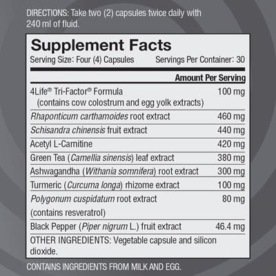 Renuvo nutritional facts