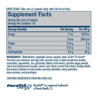 Vista nutritional facts