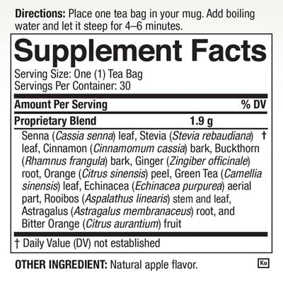 Tea Nutritional Facts