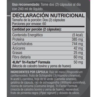bolivia renuvo nutritional facts