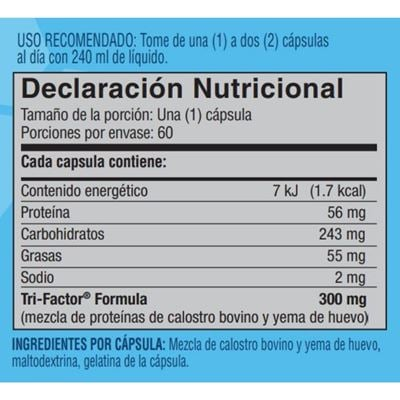 bolivia tri factor nutritional facts