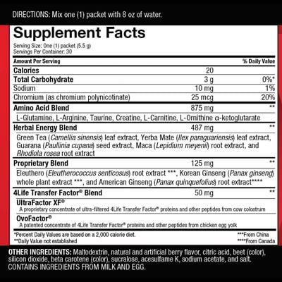 Berry Go Stix Nutritional Facts