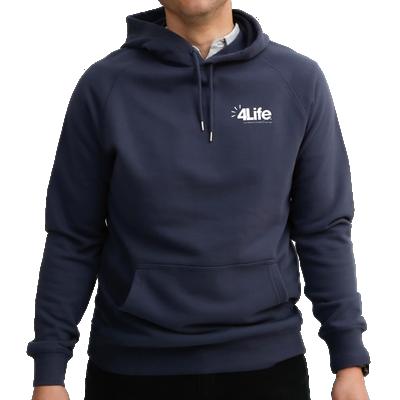 Men's blue hoodie